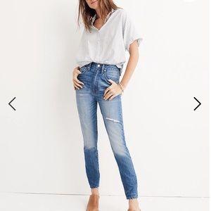 Madewell Rigid High Rise Skinny Jeans size 32 NWT